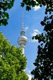 башня tv fernsehturm berlin Стоковое Изображение