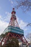 башня tv sapporo стоковая фотография rf