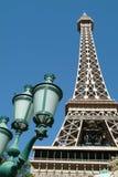 башня vegas Невады las eiffel Стоковое Изображение