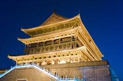 башня xian ночи барабанчика фарфора Стоковые Изображения RF