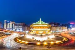 башня xian ночи колокола Стоковое Фото