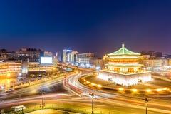 башня xian ночи колокола Стоковое Изображение RF