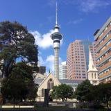 башня zealand неба auckland новая Стоковое фото RF
