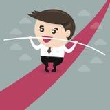 Балансировать бизнесмена Дизайн бизнесмена плоский Стоковые Изображения RF
