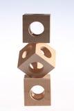 Балансируя деревянные кубы Стоковые Фотографии RF