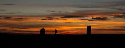 Балансируя панорама захода солнца утеса Стоковое фото RF