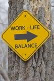 Баланс жизни работы этот знак пути Стоковые Изображения RF