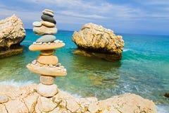 Баланс на среднеземноморских берегах Стоковое Фото