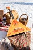 Балалайка и другие продукты русского народного искусства Стоковая Фотография RF