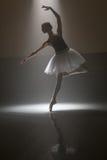 Балерина в белой балетной пачке Стоковые Фото