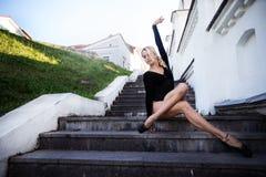 Балерина в большом городе Стоковые Фотографии RF