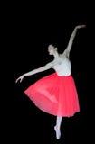 Балерина в положении танца, черной предпосылке Стоковая Фотография RF