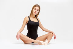 Балерина в черном обмундировании Стоковые Фотографии RF