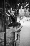 Балерина делает selfie Стоковое фото RF