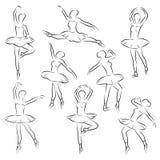 Балерина плана балета иллюстрация штока