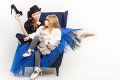 Балерина сестер и высоко-накрененные ботинки Стоковое Изображение