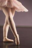 Балерина стоя в розовой балетной пачке стоковые фотографии rf