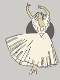 Балерина танцев иллюстрация штока