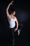 Балет девушки практикуя Стоковое фото RF