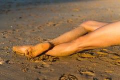 Балет на пляже стоковая фотография rf