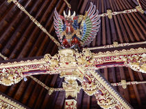 Балийская скульптура в висках стоковое фото rf