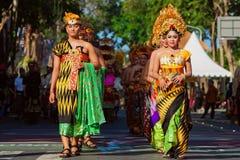 Балийские танцоры в традиционном костюме Стоковое Фото