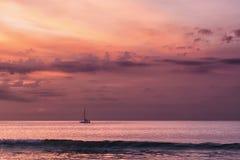 Балийский заход солнца 1 Стоковые Фото