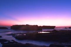 Балийский заход солнца Стоковое Изображение RF