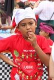 Балийский мальчик на фестивале Nyepi Стоковая Фотография RF