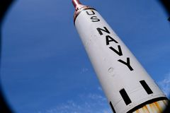 Баллистическая ракета подводной лодки стоковое фото