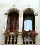 2 балкона с террасой Венецианск-стиля Стоковое Фото