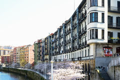 Балконы в Бильбао Стоковая Фотография