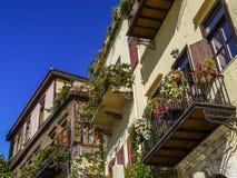 Балконы в Chania Стоковое Изображение RF
