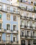 Балконы на фронте жилого квартала Стоковое фото RF