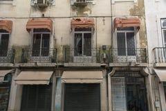 Балконы на фронте жилого квартала Стоковое Фото