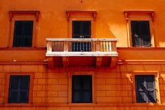 Балкон в Рим стоковые изображения rf