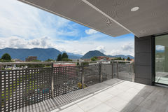 Балкон здания стоковая фотография rf