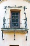 Балкон дома архитектуры стиля испанского языка Стоковые Изображения RF