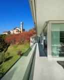 Балкон современного дома Стоковое фото RF