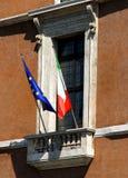 Балкон venezia аркады в Риме Стоковые Изображения