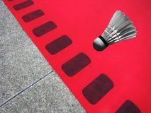 Бадминтон красного ковра Стоковое фото RF