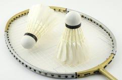 Бадминтон ракетки с краном челнока Стоковое Изображение