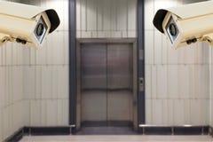 Ба нерезкости перехода носового высотного руля камеры слежения CCTV работая Стоковое фото RF