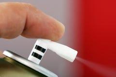 Баллончик прессы пальца Стоковое фото RF