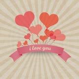Баллоны сердца вектора - предпосылка влюбленности Стоковая Фотография RF