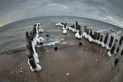 Балтийское море в зиме Стоковое Фото