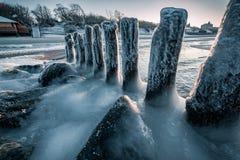 Балтийское море в зиме Стоковые Изображения