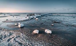 Балтийское море в зиме стоковое фото rf