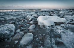 Балтийское море в зиме стоковое изображение