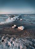 Балтийское море в зиме стоковые фото